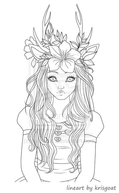 vampire coloring pages for adults fawn girl coloring page