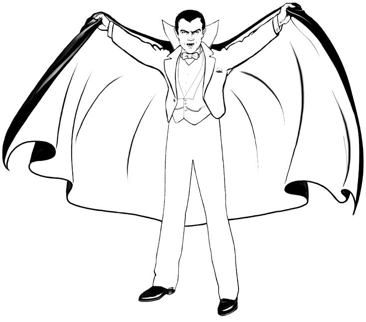 vampire coloring pages printable fun for kids