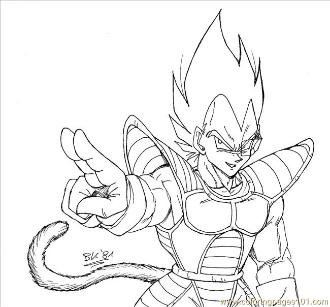 vegeta coloring pages timeless miracle