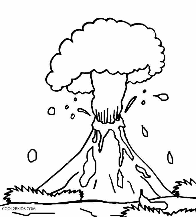 volcano coloring pages preschool clip art library