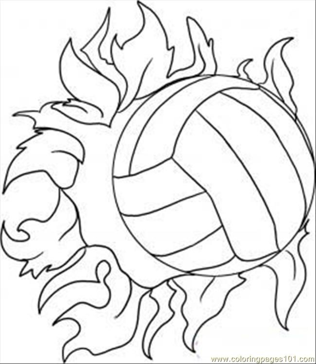 volleyball coloring pages for kids printable coloring