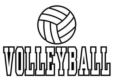 volleyball overview printables coloring pages