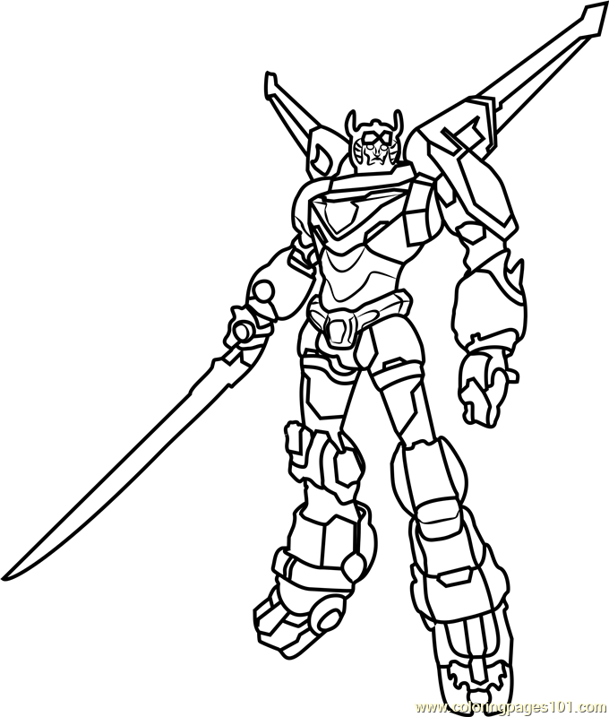 voltron coloring pages to print pusat hobi