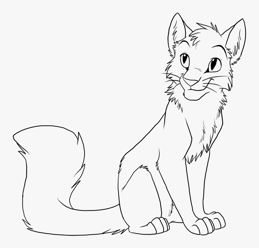 warrior cat drawing outline friwm warrior cats coloring
