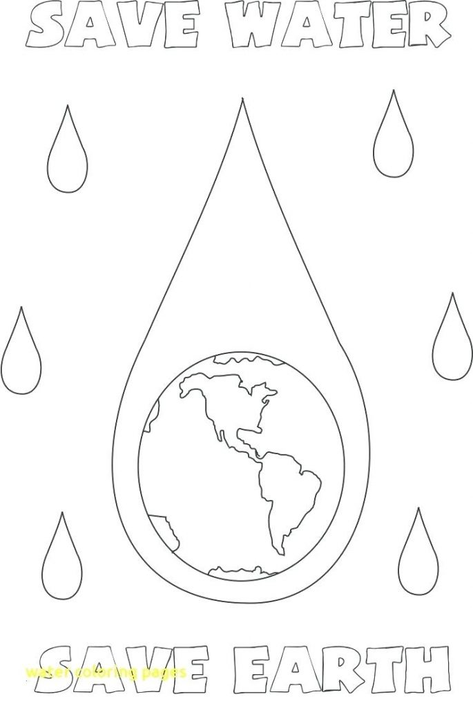 water conservation coloring sheet