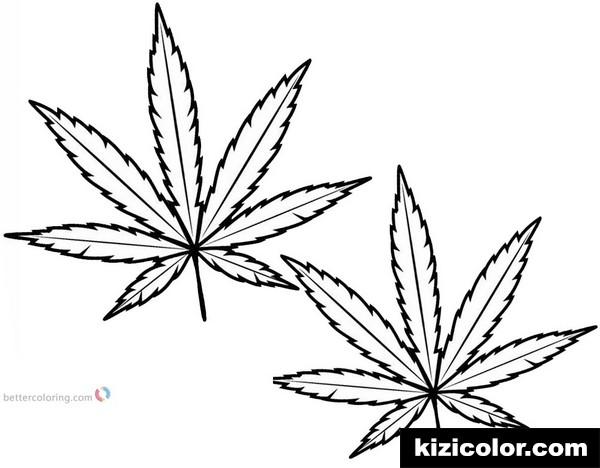 weed leaf marijuana leaf kizi free coloring pages for