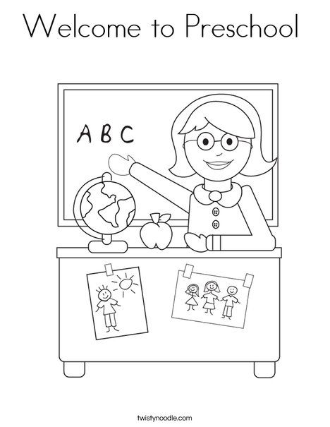 welcome to preschool coloring page this site is awesome