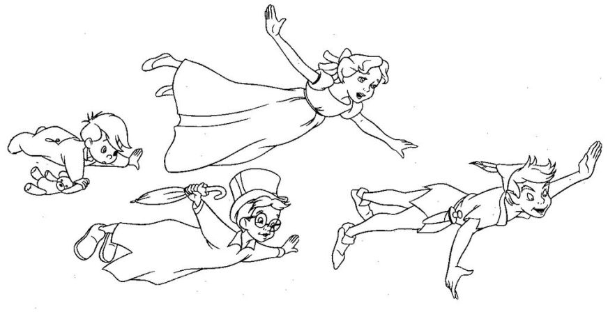 wendy darling colouring pages google search peter pan