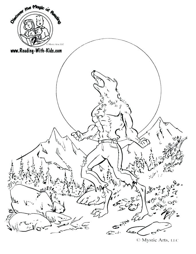 werewolf coloring pages domotekpro