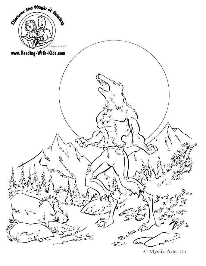 werewolf coloring pages domotekpro
