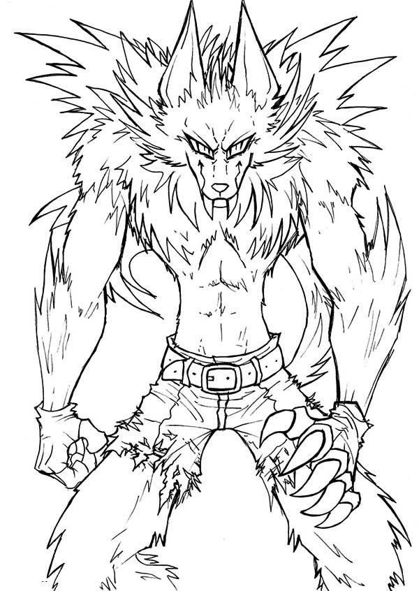 werewolf coloring pages printable at getdrawings free