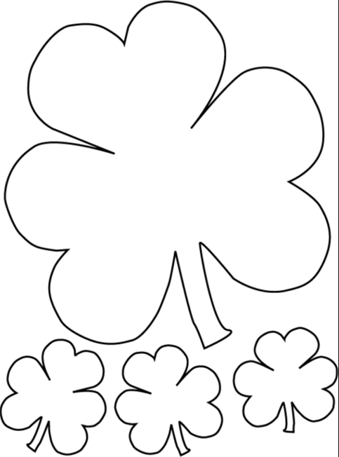 where can i print of cute shamrock coloring pages free