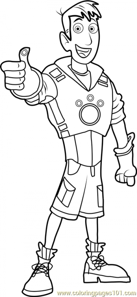 wild kratts coloring pages that you can print pusat hobi