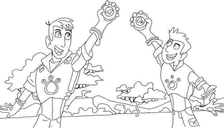wild kratts creature power discs coloring pages wild kratts