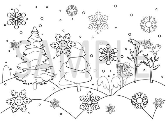 winter coloring pages snow flakes winter color pages snow coloring pages adult color pages