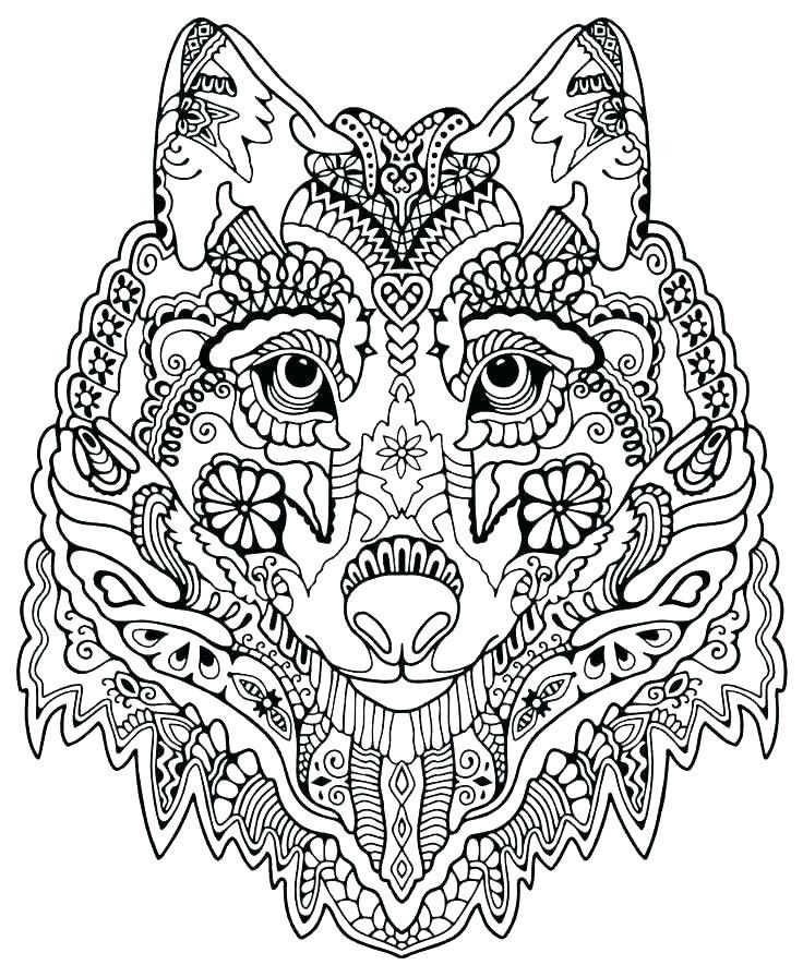 wolf coloring pages for adults adult coloring mandala