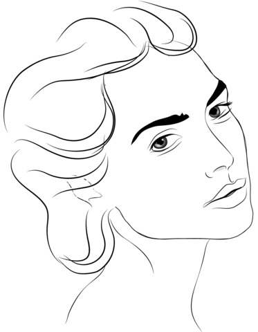 womans face coloring page free printable coloring pages
