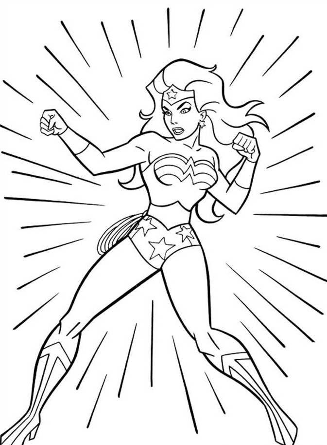 wonder woman colouring sheet superhero coloring pages