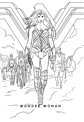 wonder woman movie kifest free printable coloring pages
