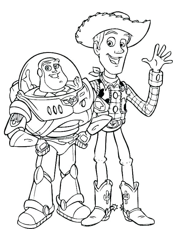 woody toy story coloring pages buzz and alien page