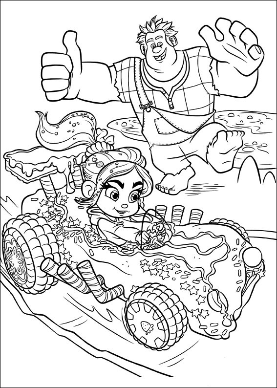 wreck it ralph coloring pages 49