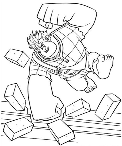 wreck it ralph coloring pages 65 pictures to print and