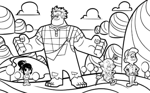 wreck it ralph coloring pages at getdrawings free for