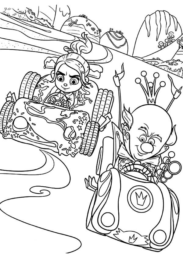 wreck it ralph coloring pages ausmalbilder und ausmalen