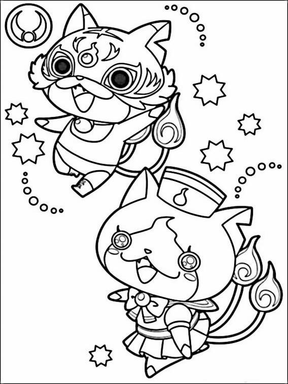 yo kai watch coloring pages 1