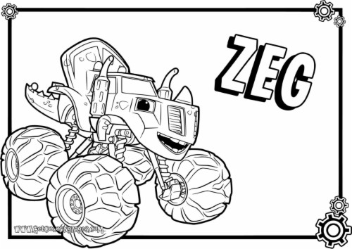 zeg blaze and the monster machines coloring pages blaze
