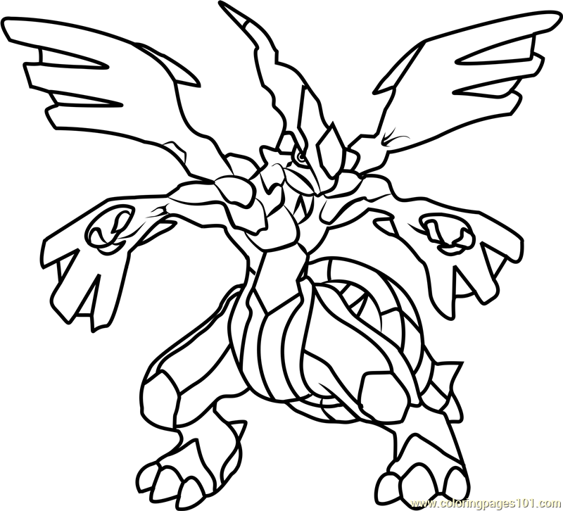 zekrom pokemon coloring page free pokmon coloring pages