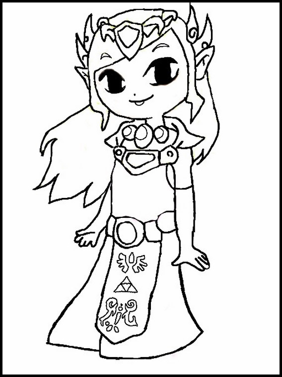 zelda coloring pages 1