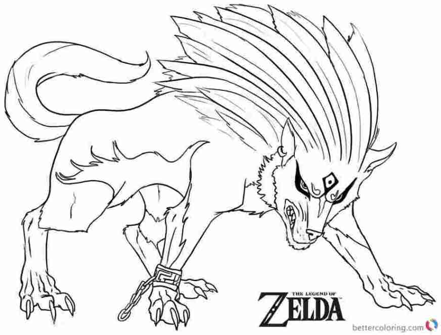 zelda coloring pages breath of the wild learn how to draw