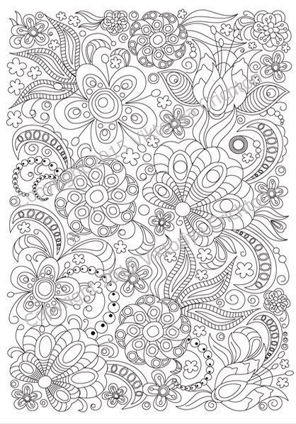 zentangle art coloring page for adults printable doodle