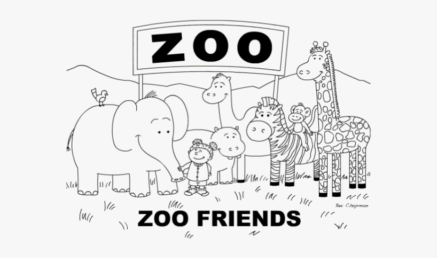 zoo clipart colouring page cute zoo coloring pages