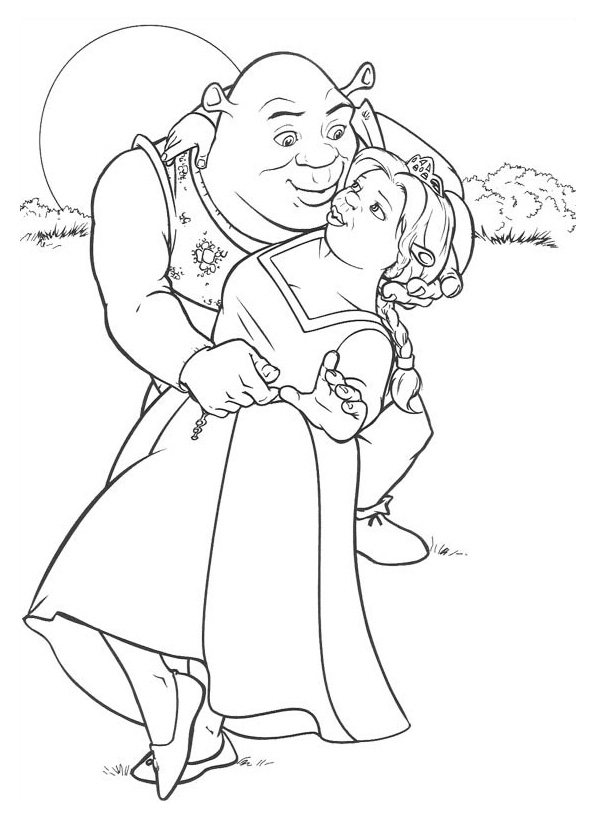coloring pages online shrek coloring pages