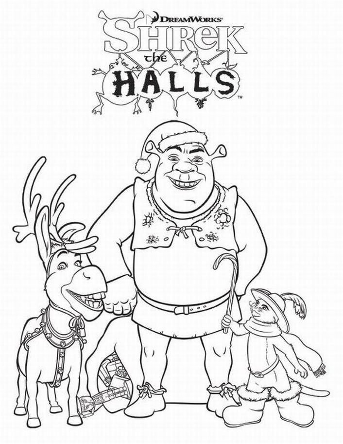 shrek 104 animation movies printable coloring pages
