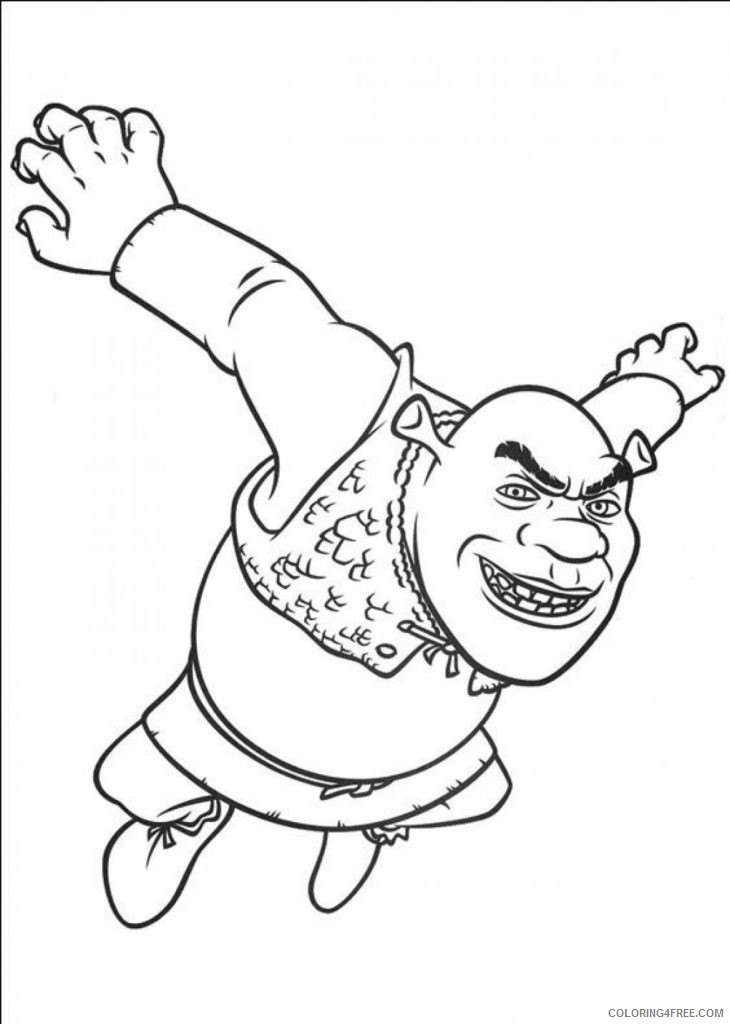 shrek coloring pages to print coloring4free coloring4free