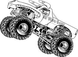 116 best colour pages monster truck images on pinterest