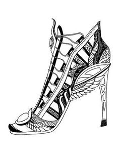 213 best shoes coloring pages for adults images coloring