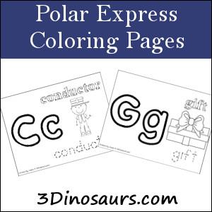 3 dinosaurs polar express pack