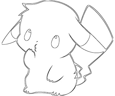 5 pikachu coloring page