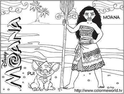 59 moana coloring pages february 2020maui coloring