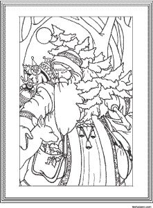 adult coloring page vintage santa claus and others