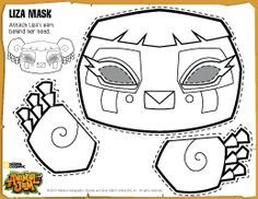 animal jam coloring pages fox animal jam diy liza mask