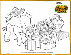 animal jam jamaalidays scene coloring page animal jam