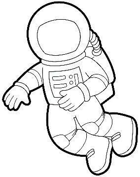 astronaut printable templates solsystem malebger
