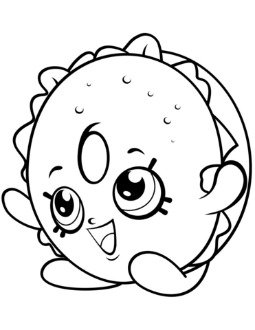 bagel billy shopkin coloring page free printable