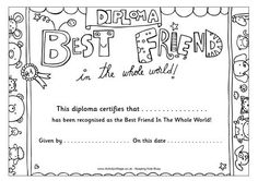 best friends coloring page vector illustration word