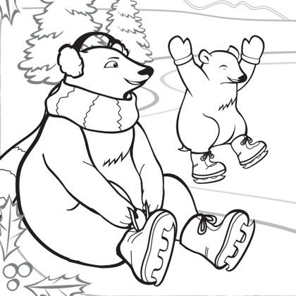 boredom busting winter printables animal coloring pages